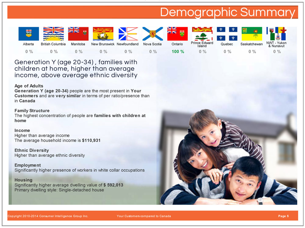 intelligentVIEW Demographic Summary Report