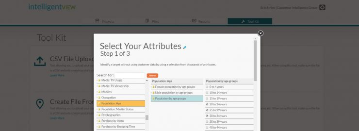 Select Your Attributes to Find Customer Insights