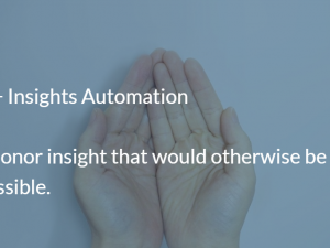 Understanding Donors: 5 reasons Canadian NFPs choose insights automation